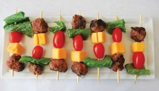 cheeseburger kebobs
